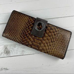 OROTON Leather Snakeskin Style Wallet MultiPocket